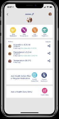 children's medication tracking app